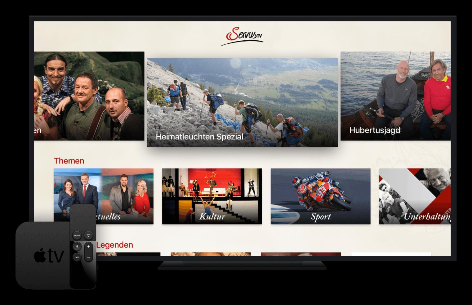 ServusTV AppleTV App