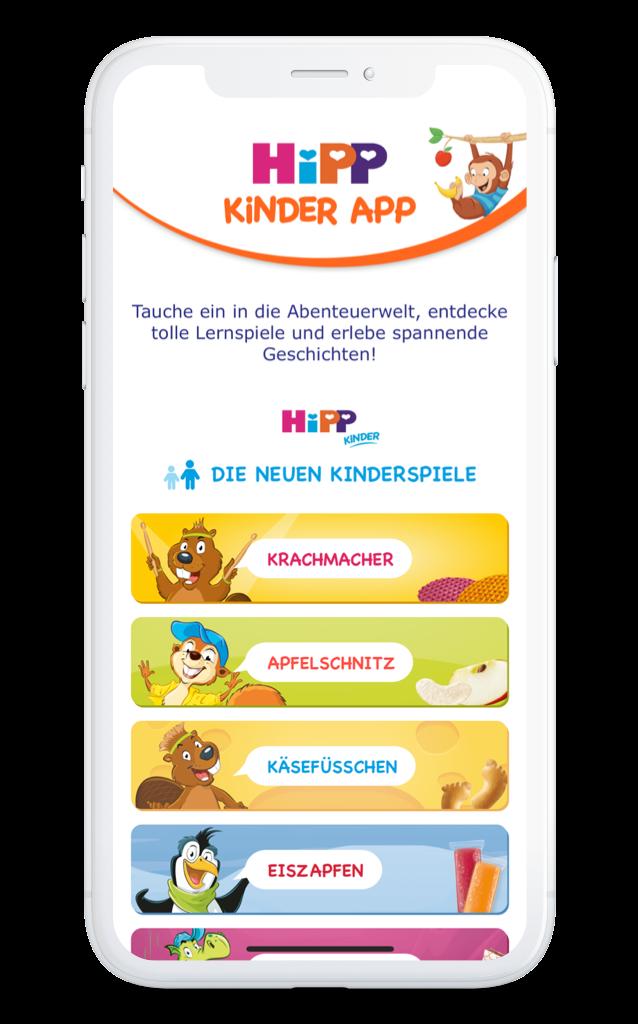 HiPP Kinder App Home