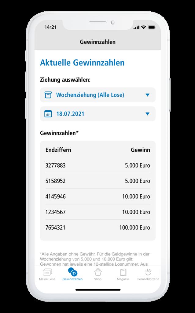 Deutsche Fernsehlotterie Ziehungen