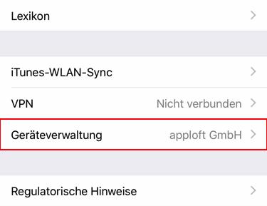 apploft iOS Installationshinweis