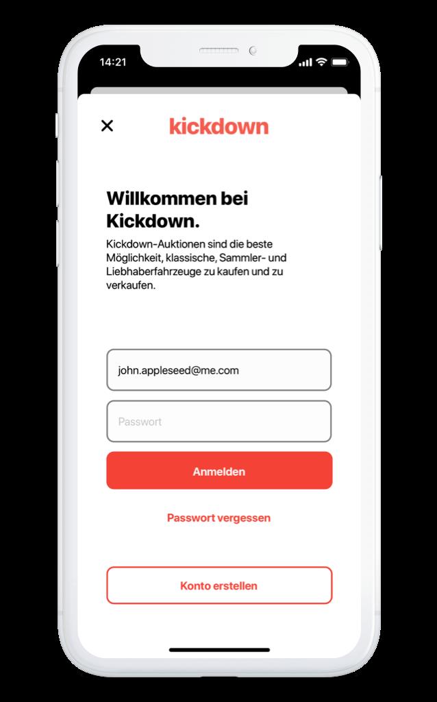 Kickdown – Login