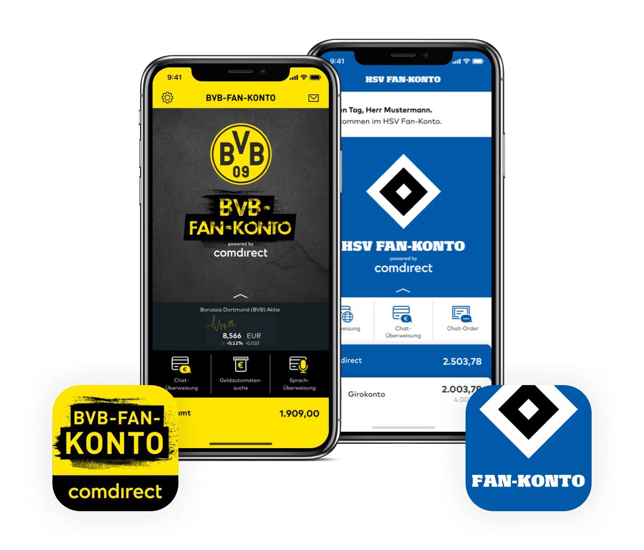 HSV & BVB Fan-Konten