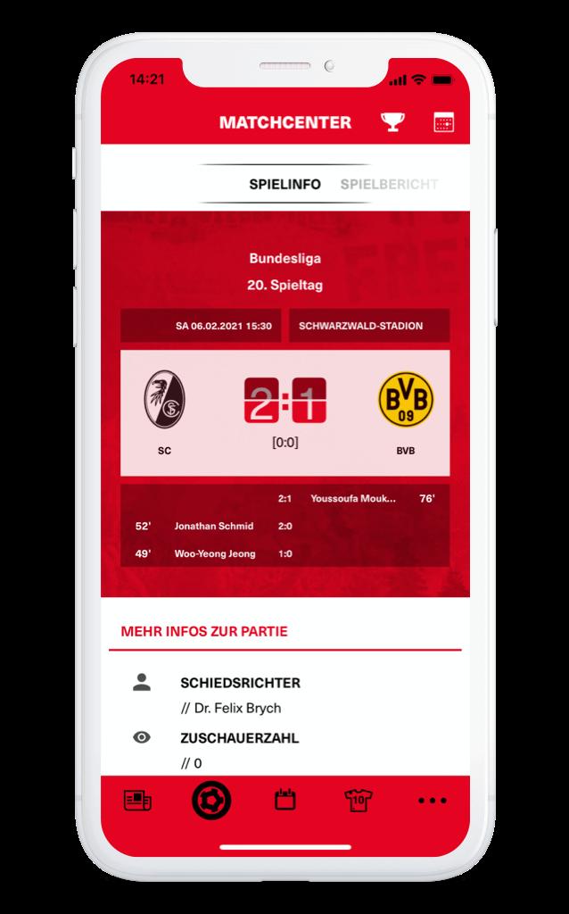 SC Freiburg – Matchcenter