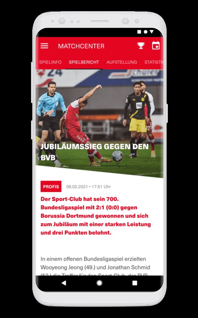 SC Freiburg – Spielbericht